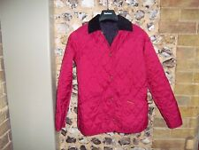 Barbour pink quilted, padded ladies jacket, coat, black lining, size 8