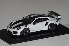 Porsche 911 GT2 RS Weissach 2018 grau-schwarz 1:43 Spark S7624 neu & OVP