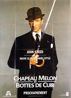 Affiche 120x160cm CHAPEAU MELON ET BOTTES DE CUIR/THE AVENGERS - John Steed TBE