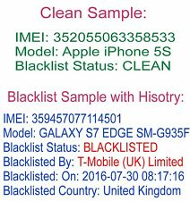 Clean Block Status Check Full Report any iPhone iPad Samsung Sony HTC LG Nokia