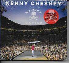 """KENNY CHESNEY """"LIVE IN NO SHOES NATION"""" DOUBLE CD SEALED NEW FREE SHIPPING"""
