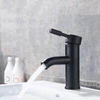 Wasserhahn Bad Schwarz Armatur Einhebelmischer Waschbecken Modern Mattschwarz