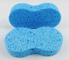 2 x Polish /Wax Sponge Applicator Cellulose - valeting, buffing,car,paint - BLUE
