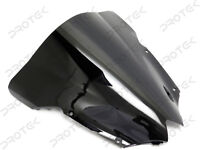 ABS Smoke Black Double Bubble Windscreen Windshield for 2008-2016 Yamaha YZF R6