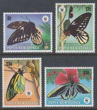 Papua-Neuguinea 1988 ** Mi.574/77 Schmetterlinge Butterflies Insekten [sq6000]