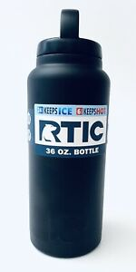 RTIC 199 Double Wall Vacuum Insulated Bottle, 36 oz, Black