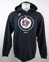Winnipeg Jets Men's Navy Pullover Big Logo Graphic Hoodie Reebok NHL M XL