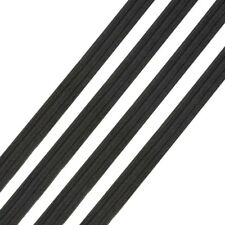 Black Flat Elastic Cord 6-8mm 1/4 inch Cord for mask making 10 meters
