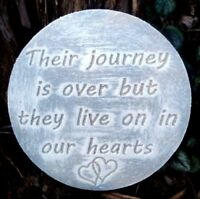 plastic memorial plaque mold garden ornament  plaque / stepping stone