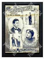 Historic Harry Houdini's Metamorphosis show 1890s Advertising Postcard