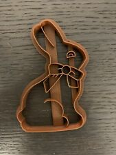 EMBOSSED CHOCOLATE BUNNY COOKIE CUTTER