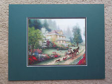 2002 Thomas Kinkade Sunday at Apple Hill Matted print with COA 14x11