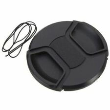 77 mm Center Front Lens Cap Hood Cover Snap on avec cordon pour Nikon Canon Sony S
