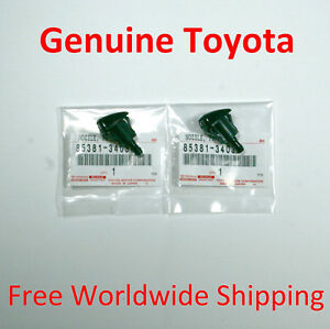 Toyota FJ Cruiser Sequoia Tundra Windshield Washer Nozzle Set of 2 for Both Side