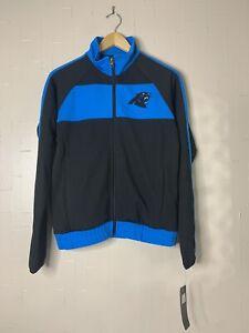 Woman's Carolina Panthers NFL Football Apparel Full Zip Track Jacket S $75 NEW -