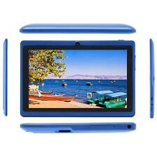 """7"""" Android 4.4 Quad Core Tablet PC Dual Camera 8GB WiFi For Kids Gifts Blue B1"""