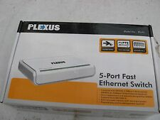 OLD BOXED UNUSED PLEXTOR ES/H1  5 PORT 10/100MBPS WIRED FAST ETHERNET SWITCH