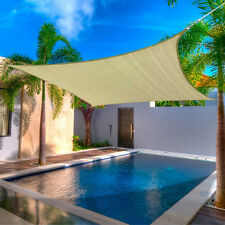 SUN SAIL SHADE - SQUARE CANOPY COVER - OUTDOOR PATIO AWNING 12.5' SIDES (12x12)