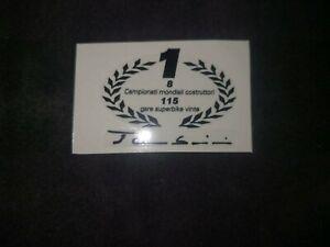 1 Adhesive Ducati 748 916 996 998 R S Tamburini Champion SBK On Base Clear