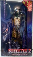 "CITY HUNTER Predator 2 Special Edition 1/4 Scale 18"" inch Figure LED Neca 2016"