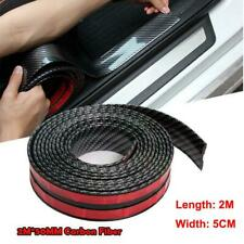 5CM*2M 5D Carbon Fiber Rubber Car Door Edge Guard Strip Sill Protector Cover