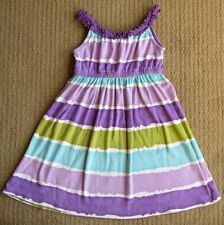 Gymboree Surf Adventure Lavender & Aqua Tie Dye Dyed Knit Sundress Dress 9 yrs