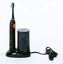 T-32 Ultrasonic Rechargeable Toothbrush UV Sanitizer + 3 Brush Heads (Black)