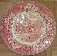 "Speiseteller ""Coaching Taverns 1828"" - Royal Tudor Ware - England"