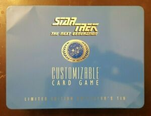 Star Trek: TNG CCG Limited Edition Collector's Tin Complete Limited to 30,000