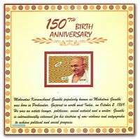 Ghana 2019 Mahatma Gandhi India Indian theme Embossed Stamp Miniature sheet MNH