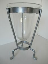 Contemporary pewter & glass vase (w/ glass marbles)