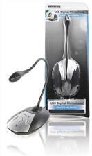 KONIG flessibile USB MICROFONO PER PC/Laptop/Desktop con cancellazione del rumore
