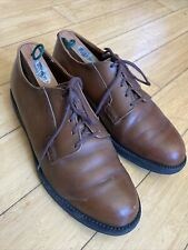 Rare Mens Vintage Red Wing Postman Pebble Grain Brown 9D