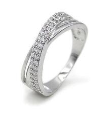 Ring Wickelring 925 Sterling Silber 42 Zirkonia Silberring Verlobungsring Damen