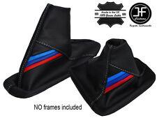 BLANC COUTURE CUIR SOUFFLET LEVIER VITESSE ET FREIN POUR BMW E46 E36 M RAYURES
