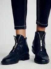 NIB RTL $275! A.S. 98 EDISON Ankle Boot/Shoe Black Leather- Size EU 36/ US 6!