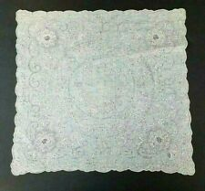 "Elaborate Antique Vintage Hanky Hand Embroidered Wedding Handkerchief 11"" NOS #6"
