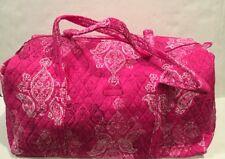 Vera Bradley STAMPED PAISLEY LARGE DUFFEL Travel Bag Weekend Tote Bag New 15826