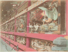 Horimono at Nikko, Japan -  1880s Hand Coloured Albumen Photograph.