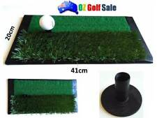 NEW 1PCS HEAVY DUTY GOLF DRIVING CHIPPING MAT W/ DUAL HEIGHT GRASS WITH TEE
