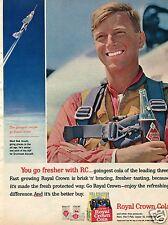1963 Royal Crown RC Cola Soda Print Ad with Pilot Bob Smyth A2F Grumman