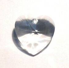 28mm Swarovski Strass Clear Heart Crystal Prisms Feng Shui Wholesale 6202-28 CCI