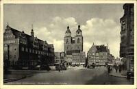 WITTENBERG Bez. Halle 1935 Marktplatz Autos Personen Verkehr Geschäfte Häuser