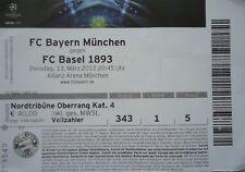 TICKET UEFA CL 2011/12 FC Bayern München - FC Basel