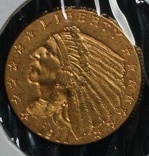 1911 Gold Indian Head 2 1/2 Dollar $2.5 Quarter Eagle Coin
