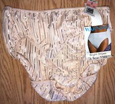 Warner's Bright Stripes Panties Underwear Briefs Nwt New Size 8 Stripes Liquid