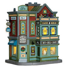 Lemax Coventry Cove Lighted ARBOR ST. PAWN SHOP w/ Interior Scenes