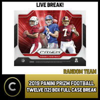 2019 PANINI PRIZM FOOTBALL 12 BOX (FULL CASE) BREAK #F313 - RANDOM TEAMS