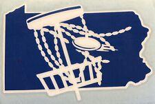 6� Pennsylvania Disc Golf Vinyl Decal