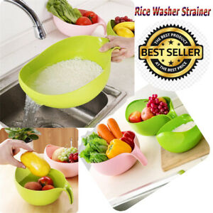 Rice Washing Filter Strainer Basket Sieve Fruit Vegetable Bowl Drainer FURZON